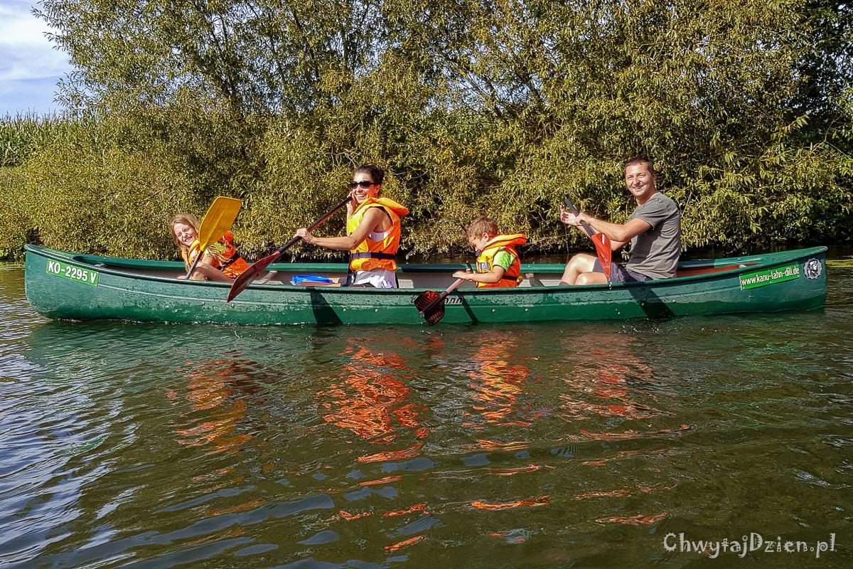 Kajaki z dziećmi - Kanu na rzece Lahn