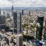 Frankfurt z lotu ptaka