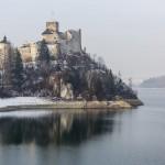 Zima nad Jeziorem Czorsztyńskim