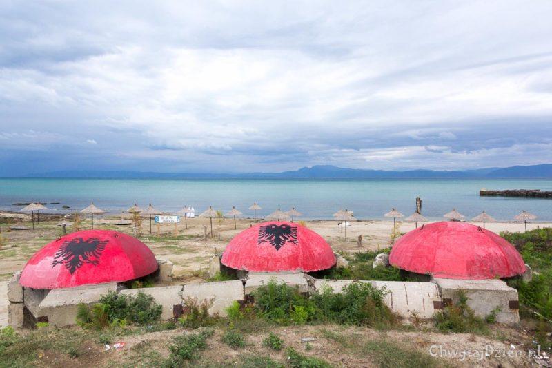 Półwysep Rodonit i bunkry na plaży